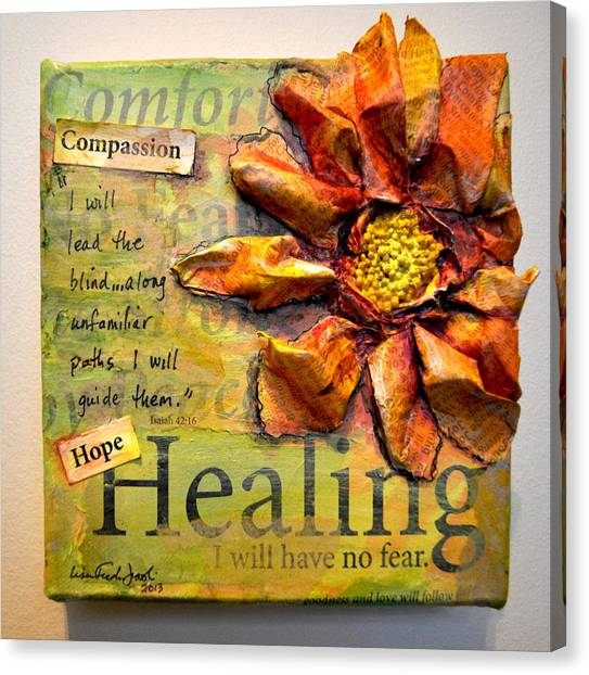 Healing From Isaiah 42 Canvas Print