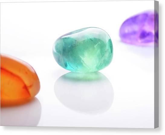 Gemstones Canvas Print - Healing Gemstones by Cordelia Molloy