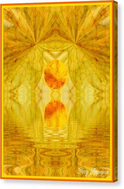 Healing In Golden Sunlight Canvas Print by Ray Tapajna