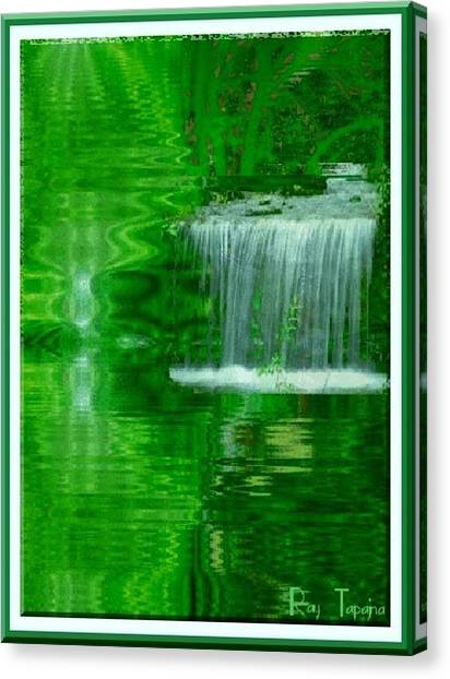 Healing In Green Waters Canvas Print by Ray Tapajna