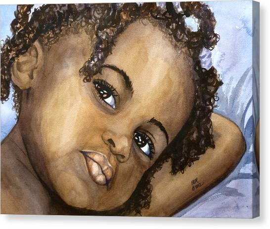 Nigerian Eyes Canvas Print