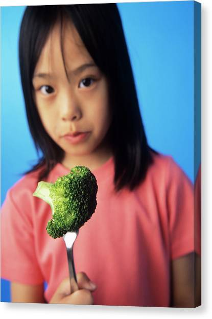 Broccoli Canvas Print - Healthy Eating by Ian Boddy/science Photo Library