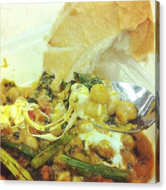 Vegetarian Canvas Print - #healthy #homemade #vegetarian #lunch by Megan Batrez