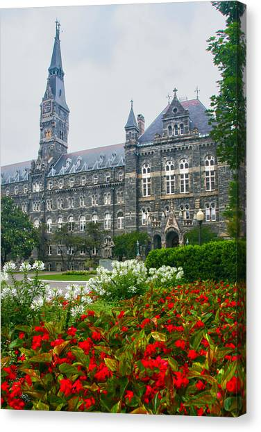 Washington D.c Canvas Print - Healy Hall by Mitch Cat