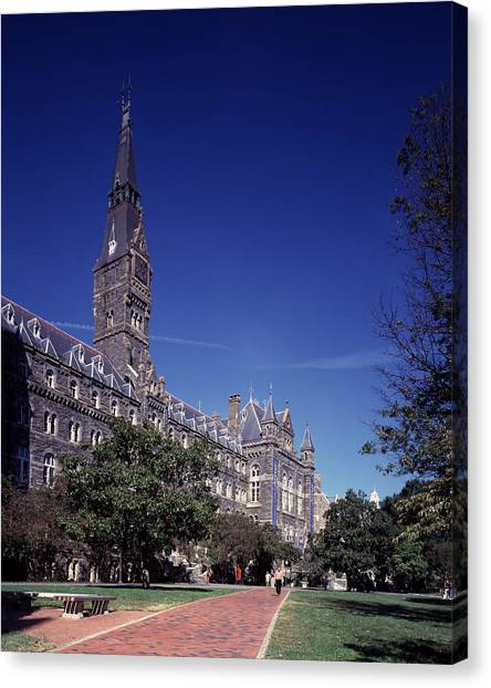Big East Canvas Print - Healy Hall On The Campus Of Georgetown University by Mountain Dreams