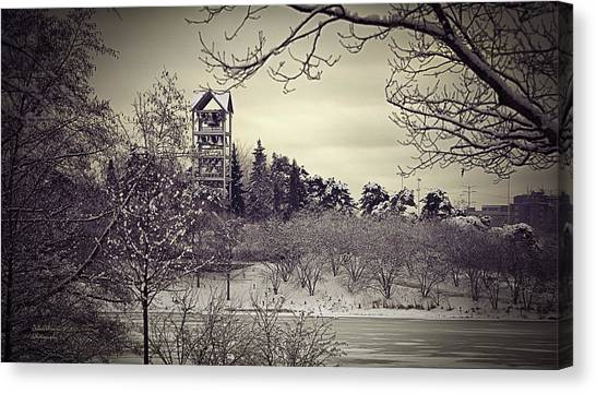 Hear The Carillon Bells Canvas Print by Julie Palencia