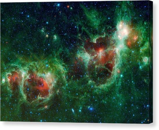 Canvas Print - Heart And Soul Nebulae by Nasa/jpl-caltech/ucla/science Photo Library
