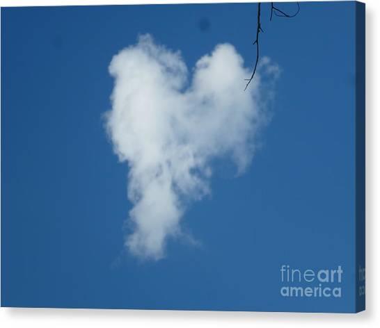 Heart Cloud Bell Rock Canvas Print