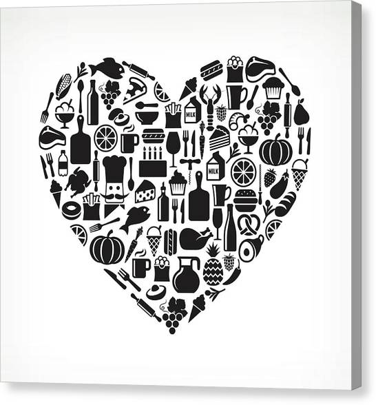 Heart Food & Drink Royalty Free Vector Canvas Print by Bubaone
