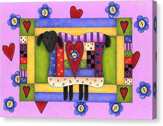 Heart For Ewe Canvas Print