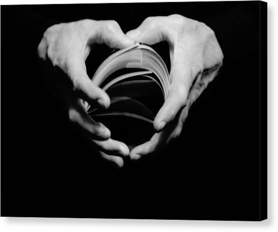Heart In Hand Canvas Print