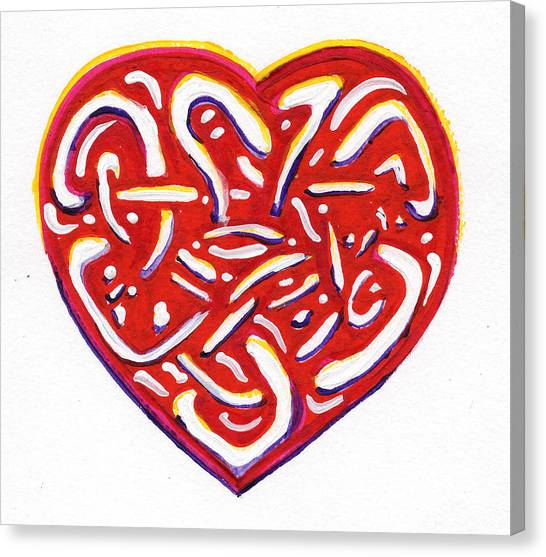 Heart Intertwined Canvas Print