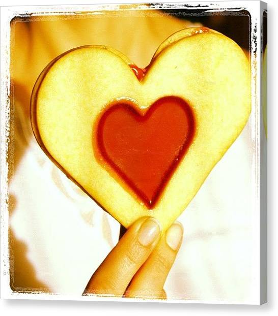 Women Canvas Print - Heart Love Cookie by Matthias Hauser