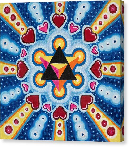 Heart Merkaba Canvas Print by Christopher Sheehan