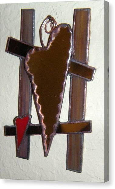 Heart Mirror Canvas Print by Nora Solomon