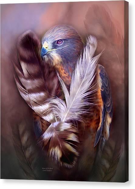 Heart Of A Hawk Canvas Print