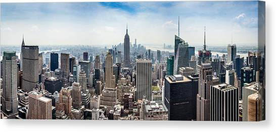 Empire State Building Canvas Print - Heart Of An Empire by Az Jackson