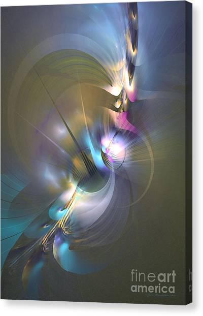 Heart Of Dragon - Abstract Art Canvas Print