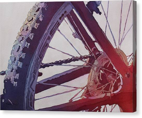 Heart Of The Bike Canvas Print
