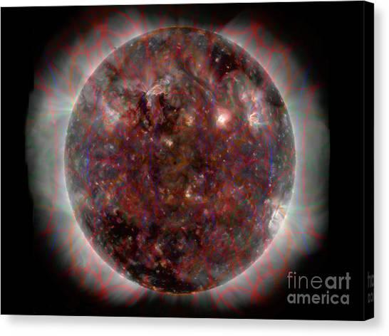 Heart Of The Sun 3 Canvas Print