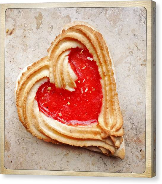Hearts Canvas Print - Heart Shaped Cookie Square Format by Matthias Hauser