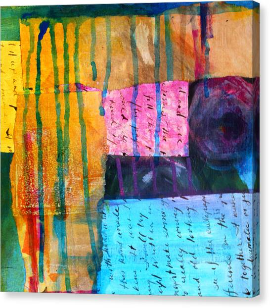 Torn Paper Collage Canvas Print - Heart Tear by Nancy Merkle