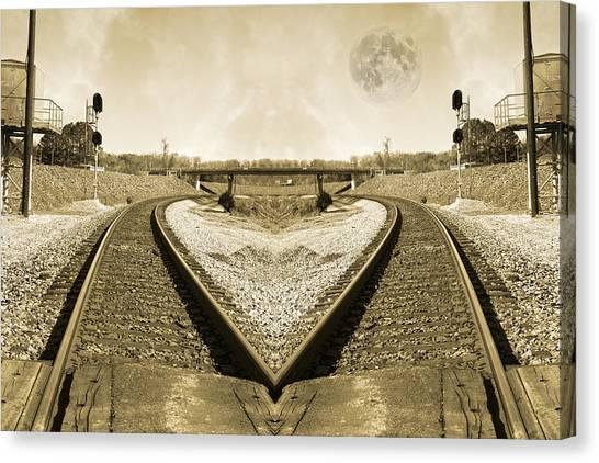 Amtrak Canvas Print - Heart Tracks by Betsy Knapp