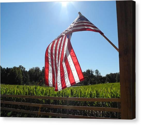Corn Maze Canvas Print - American Pride by Jeff Wolfe