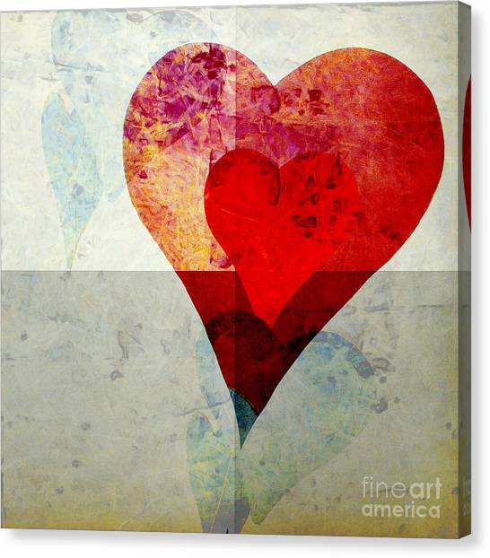 Aspect Canvas Print - Hearts 4 Square by Edward Fielding