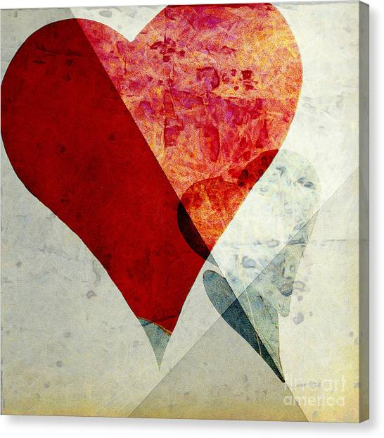 Aspect Canvas Print - Hearts 6 Square by Edward Fielding