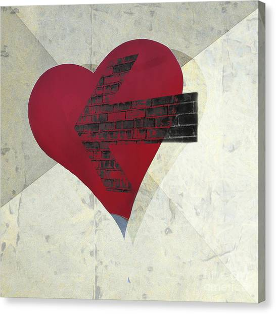 Cupid Canvas Print - Hearts 7 Square by Edward Fielding