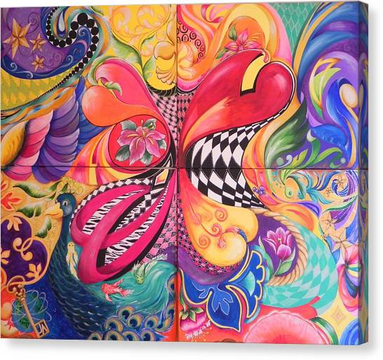 Heart's Abound Canvas Print by Jill Alexander