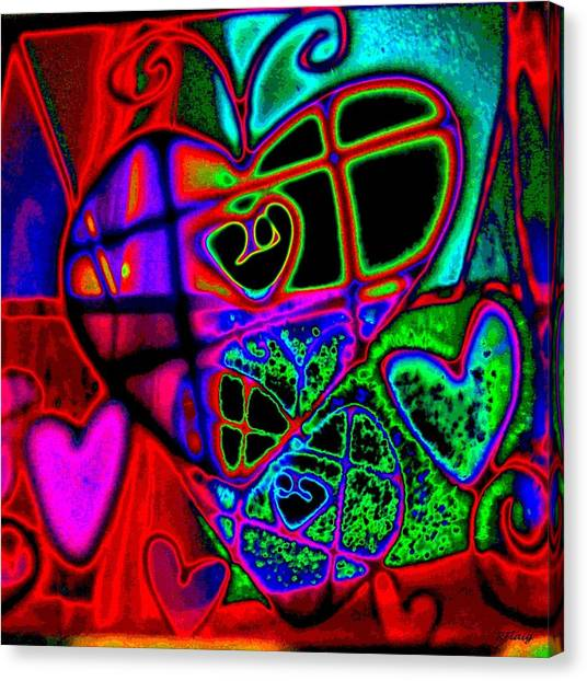 Hearts Desire Canvas Print by Rebecca Flaig