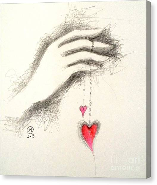 Hearts In Hand Canvas Print