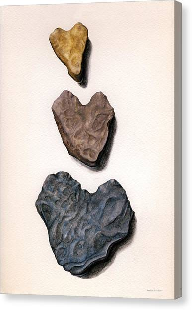 Hearts Rock Canvas Print