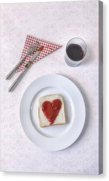 Ketchup Canvas Print - Hearty Toast by Joana Kruse