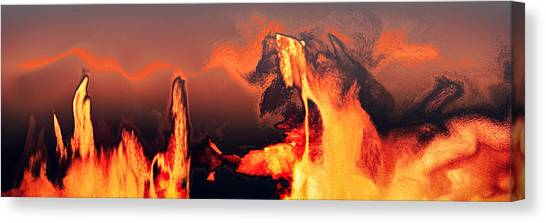 Heated Activity Canvas Print