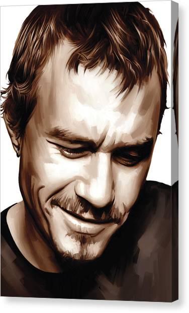 Heath Ledger Canvas Print - Heath Ledger Artwork by Sheraz A