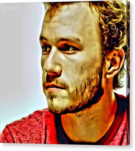 Heath Ledger Canvas Print - Heath Ledger Portrait by Florian Rodarte