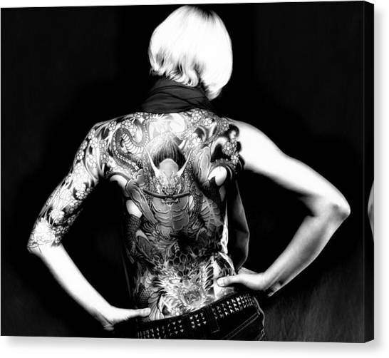 Heather The Tatooed Lady Canvas Print