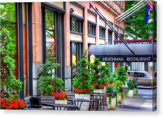 Heathman Restaurant 17368 Canvas Print
