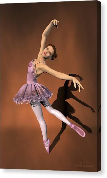 Heaven - Ballerina Portrait Canvas Print by Alfred Price