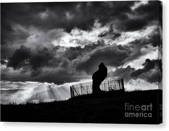 Rainclouds Canvas Print - Heaven And Earth by Tim Gainey