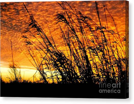 Sunset Heaven And Hell In Beaumont Texas Canvas Print