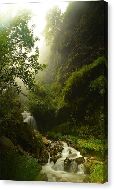 Himalayas Canvas Print - Heaven Calling by Aaron Bedell