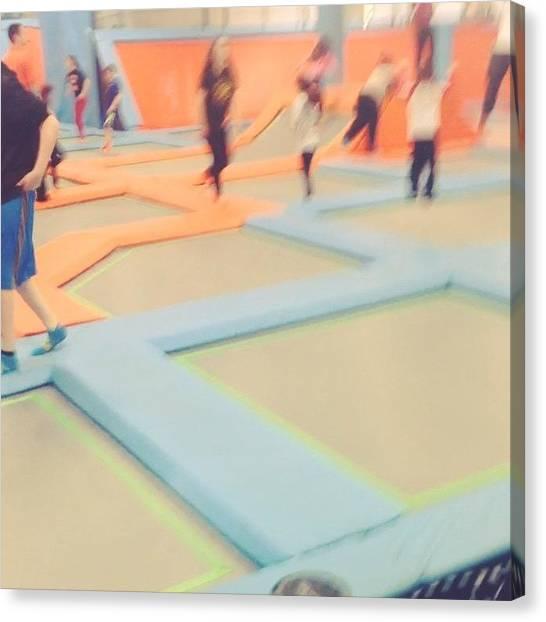 Trampoline Canvas Print - #heaven #dreamcometrue #trampolines by Leanna Bodo