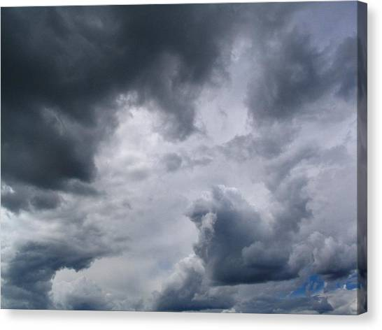 Heaven Looks Angry Canvas Print