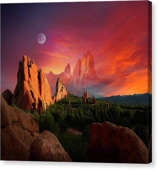 Heavenly Garden Canvas Print