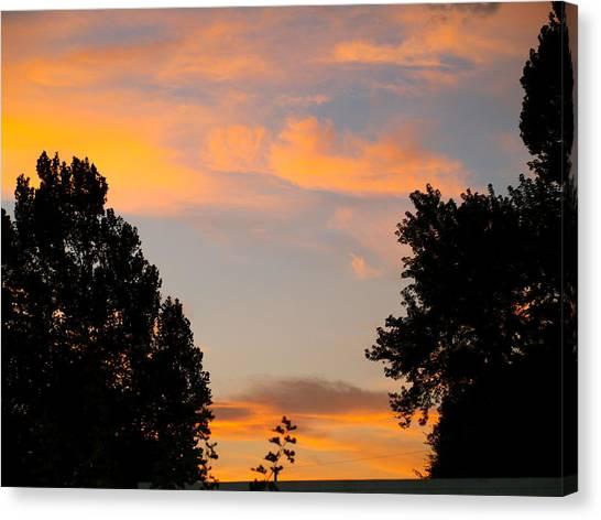 Heavenly Orange Canvas Print
