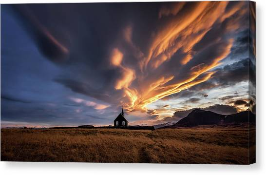 Church Canvas Print - Heavenly Spectacle by Sus Bogaerts